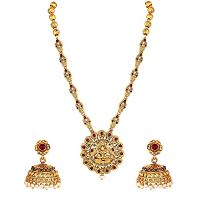 Buy Amaal Temple South Indian Red Green Peacock Goddess Laxmi