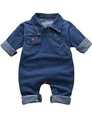 Hnyenmcko in cotone colore: rosso Red 6-12 Mesi Tutina da neonato con stampa Im The Boss a maniche lunghe