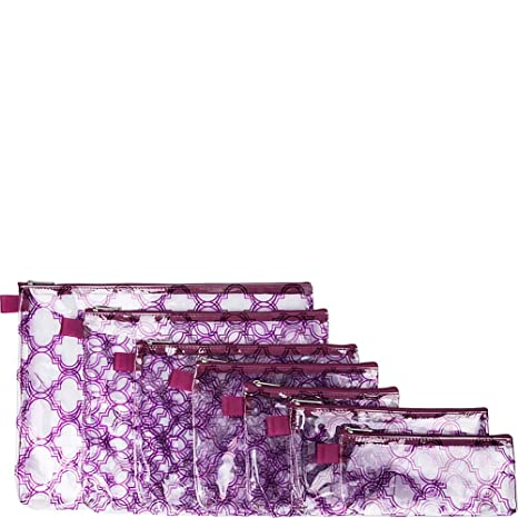 7a12f2879f3d Travelon Set of 7 Packing Envelopes (Purple Tiles