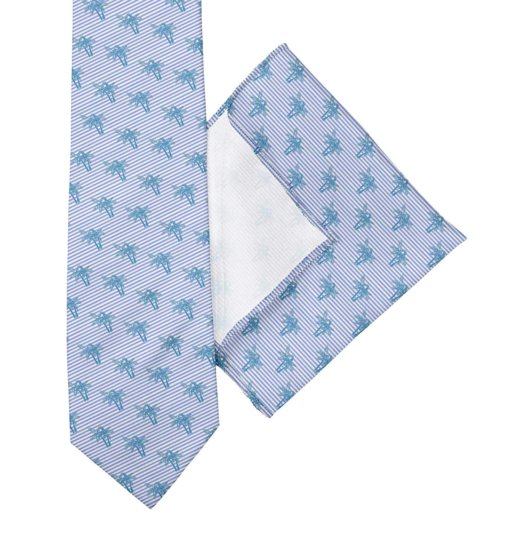 BESTMAN Herren Accessoires Fliege Ascot Krawatte Krawatte mit Taschentuch Set