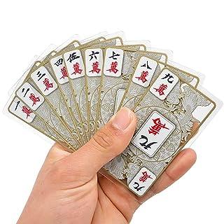 GaLon Crystal Mahjong Poker/all Plastic Mini Travel Mahjong Card Set Dimensioni: 9.5 * 5.7CM / Fogli