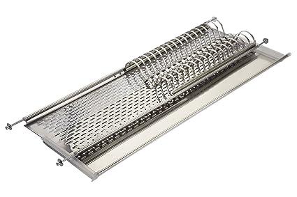 Elletipi Bridge I850 Combi1 86 V01 - Escurreplatos para armario colgante de hoja basculante, 15x25x90 cm, acero inoxidable