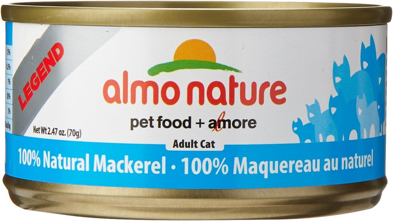 Almo Nature Mackerel Food (24 Cans Per Case), 2.47 Oz.
