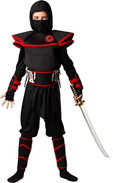 Bad Bear Brand Kids 12pc Deluxe Ninja Costume for Boys & Girls Sizes XS SML