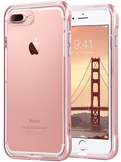 the best attitude ac350 b089f ULAK iPhone 8 Plus Case, iPhone 7 Plus Case Clear, Slim Fit Shockproof  Bumper PC Frame TPU Back, Proffesional Protective Case Cover for Apple  iPhone 7 ...