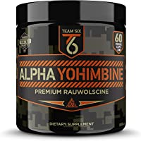 Team Six Supplements Alpha Yohimbine – Proven Yohimbe Bark Fat Burner, Weight Loss Pills That Work Fast - 3rd Party…