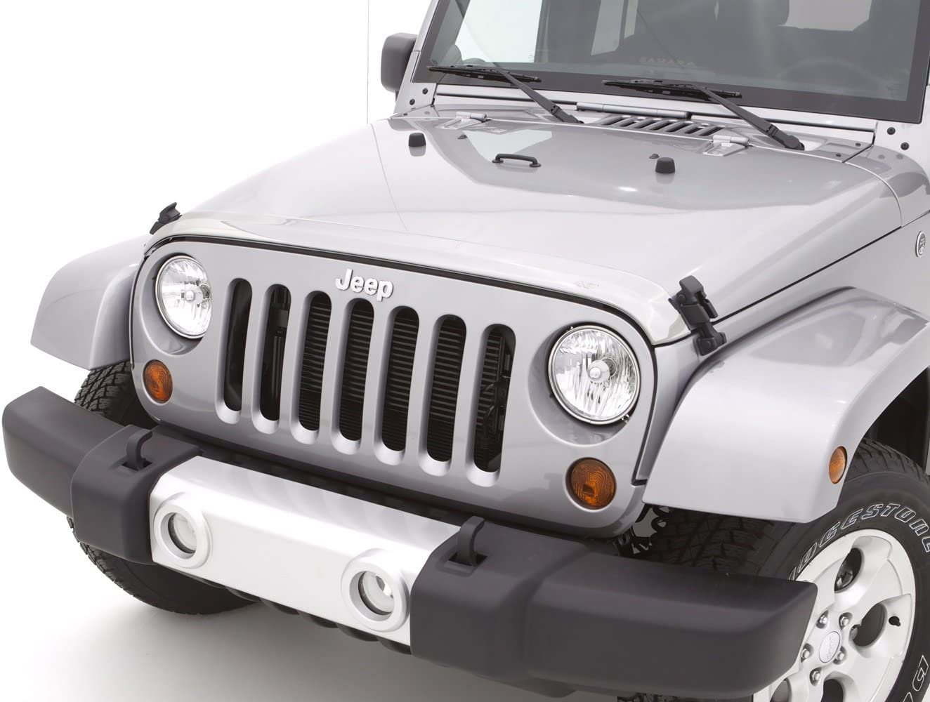 Auto Ventshade 622156 Aeroskin Flush Mount Chrome Hood Protector for 2018-2018 Jeep Wrangler