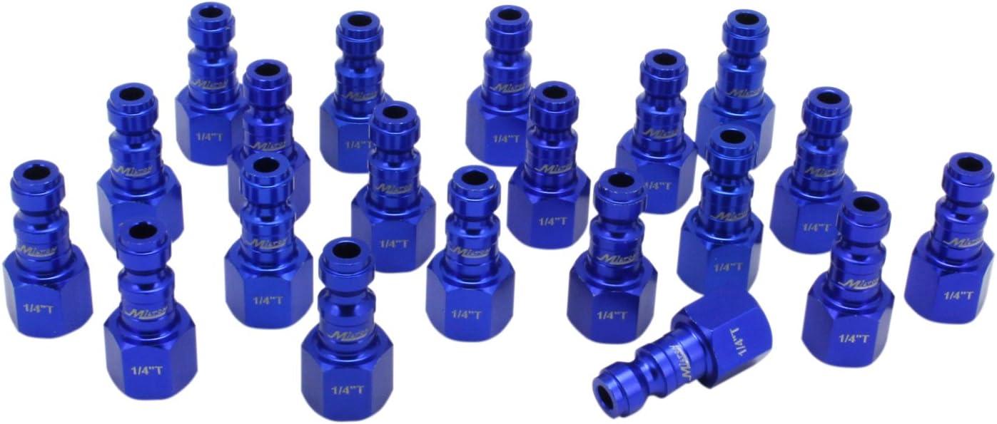 ColorFit by Milton 784TC-20 Pneumatic Plugs - (T-style, Blue) - 1/4