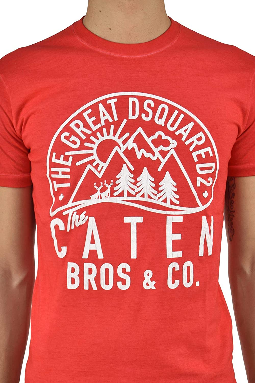 DSQUARED2 T-Shirt Caten Men New Color: Red Size: M