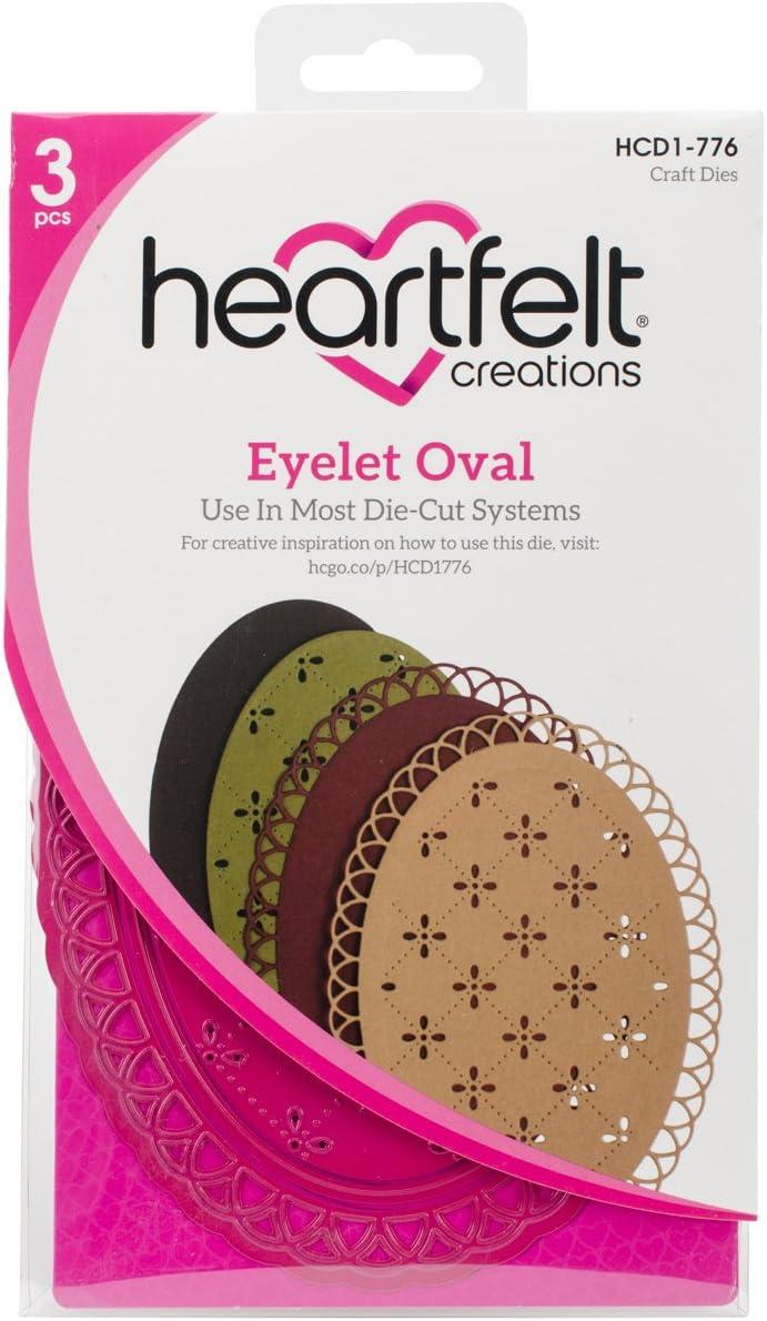 Heartfelt Creations Spellbinders Die ~ EYELET OVAL ~ HCD1-776 ~
