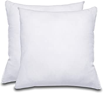 decorative pillow insert 2 pack square 18x18 sofa and bed pillow microfiber
