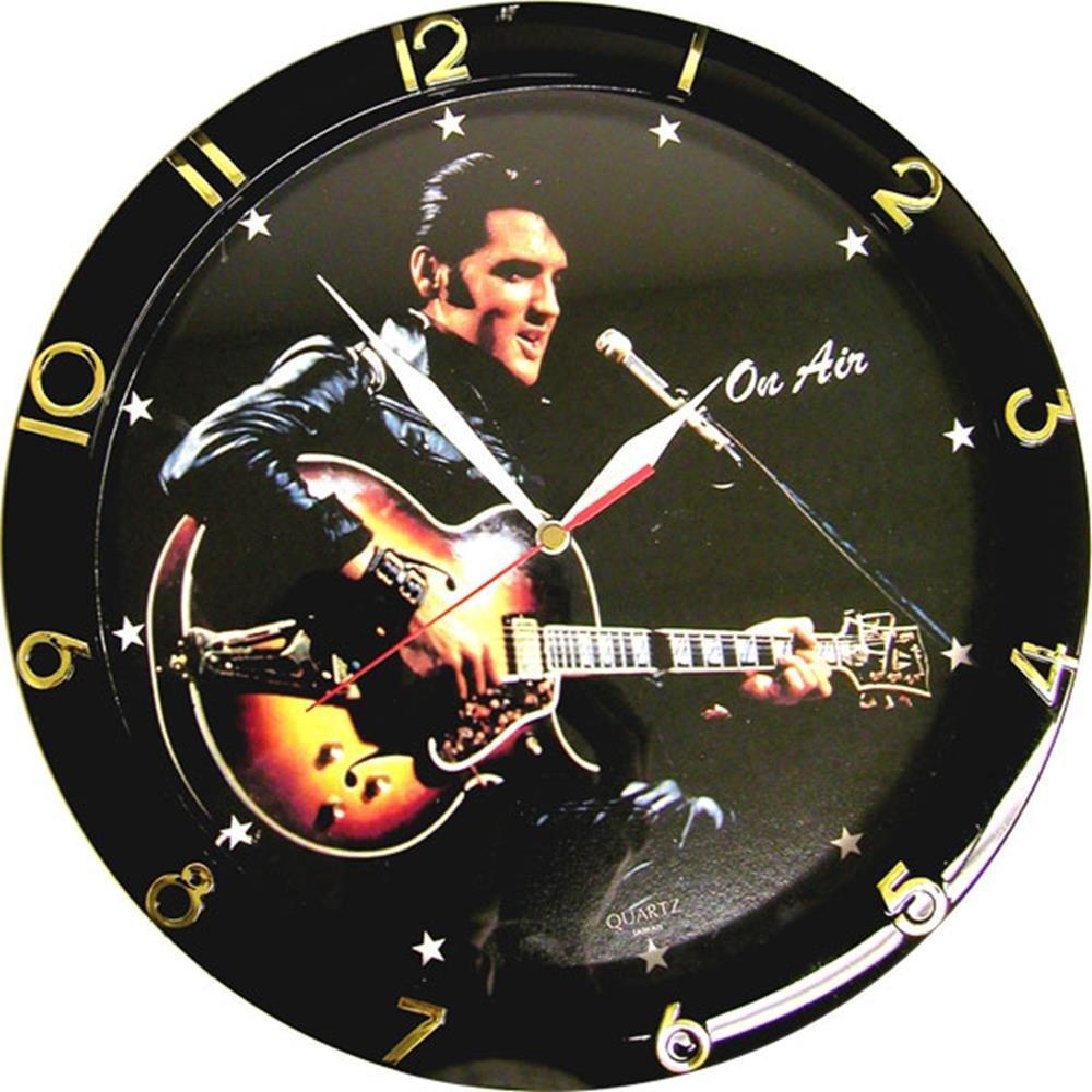 Signs 4 Fun Cep Rocker Black Leather Clock Round