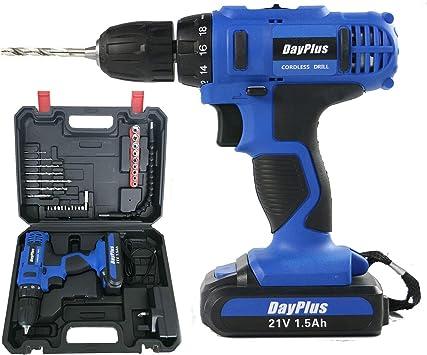 12V Cordless Hammer Drill Electric 1-Speed Driver Screwdriver 1x Li-Ion Battery