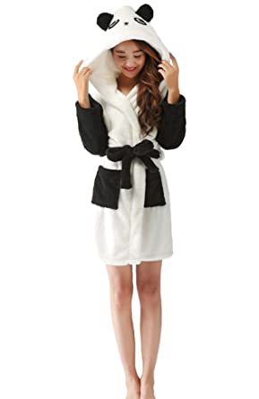 fe285e7595 Nicetage Ladies Chrismas Hooded Dressing Gown Robe Warm Cute Cosplay  Costume Animal Housecoat with Belt(