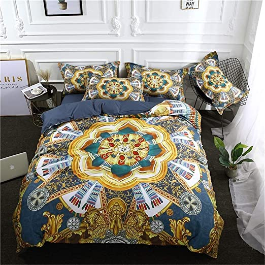 DUVET COVER BEDDING SET WITH 2 PILLOWCASES QUILT COVER SINGLE DOUBLE KING SIZE