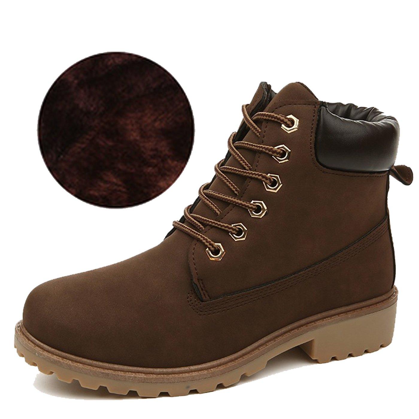 CHNHIRA Martin de Bottes Laine Boots de de Cheval Bottes Chaussures Chaussures de Randonnée Couples Chaussure Montantes Femme Brun F e663786 - epictionpvp.space