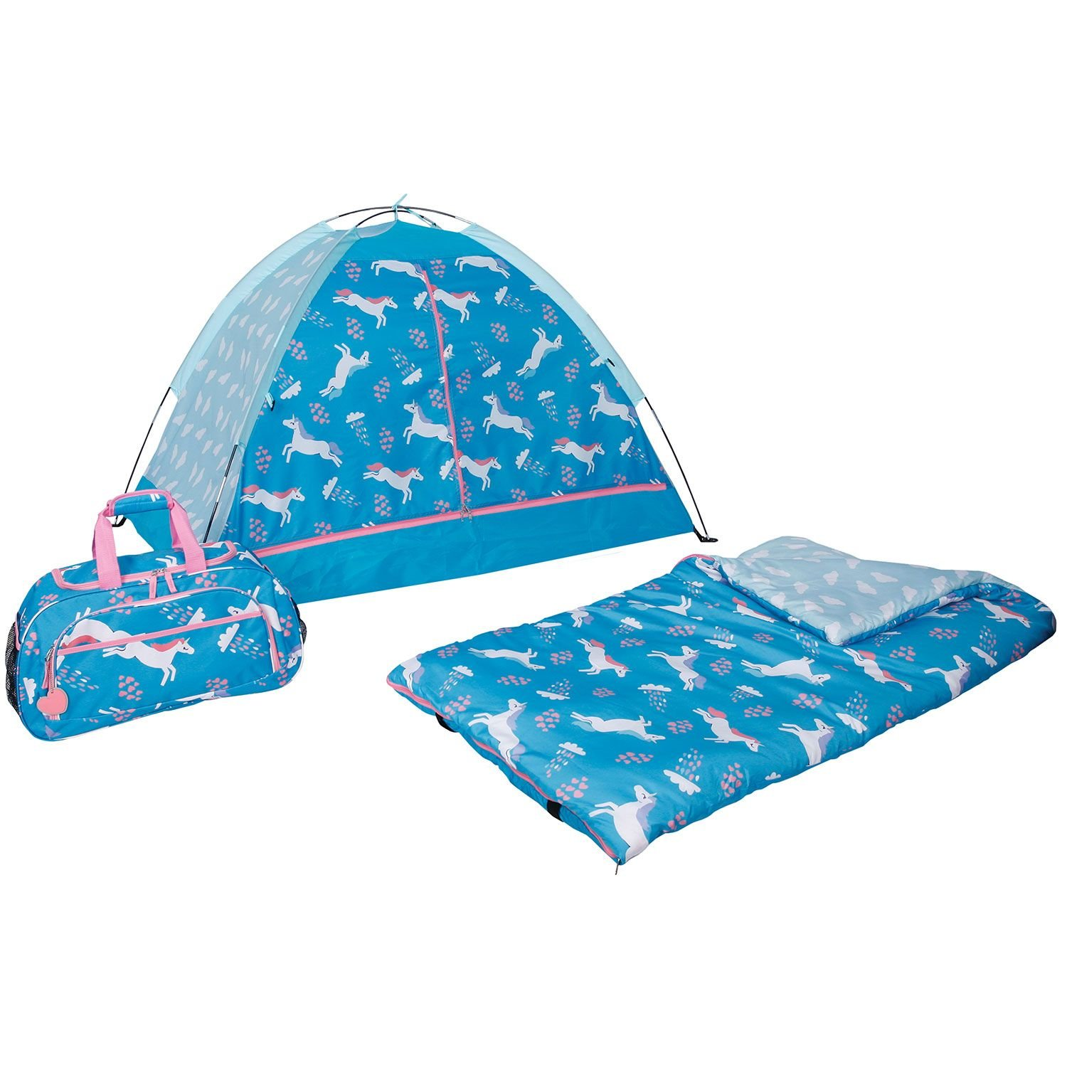 3-Piece Kids Indoor Camping Slumber Set (Leaping Unicorn) DOODLES SLEEP SET