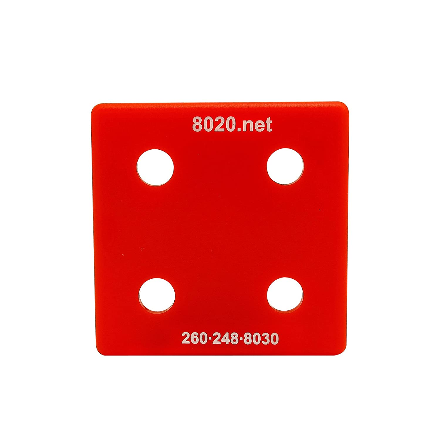 10 Series 2028RED with Push-Ins Red 2020 End Cap 80//20 Inc