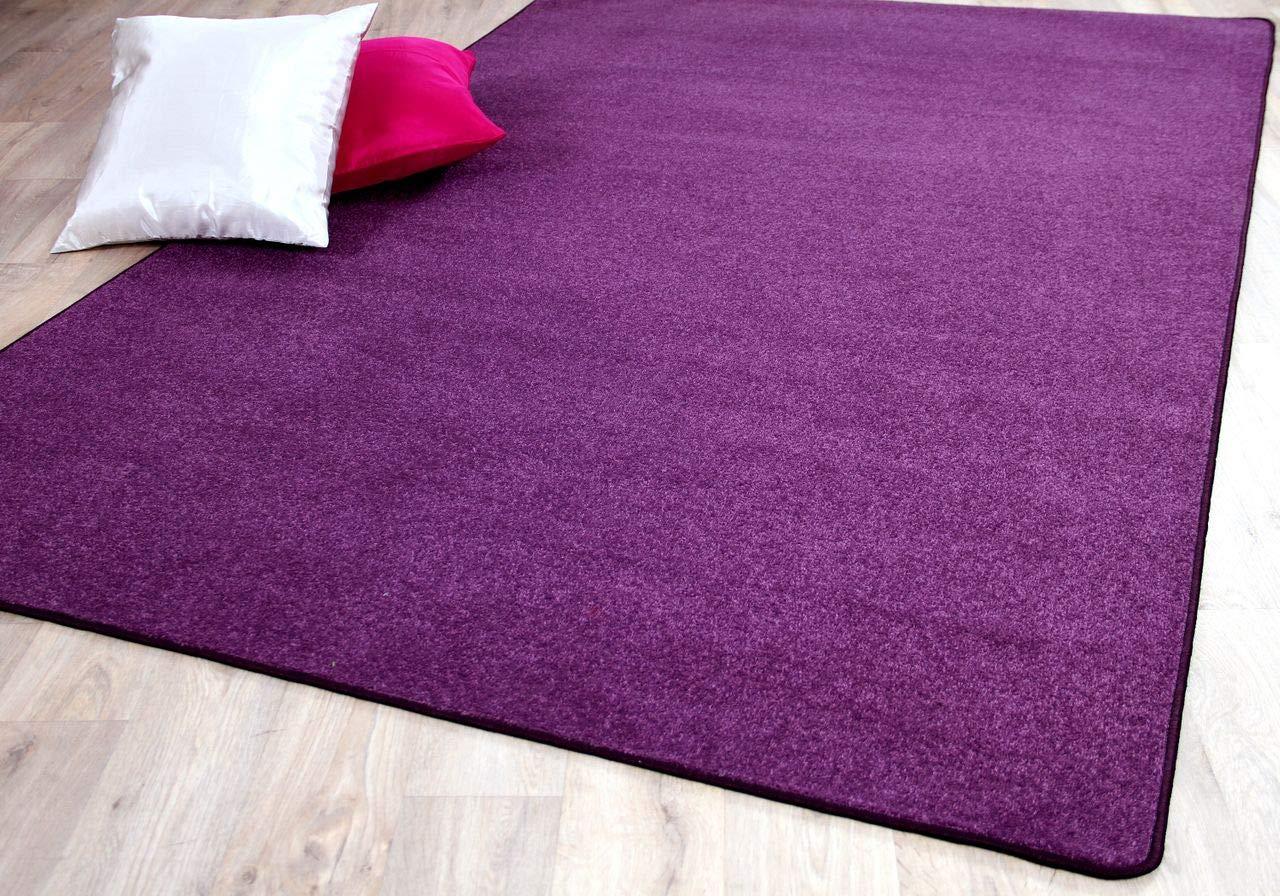 Trend Velour Teppich Joy Lila in 24 Größen