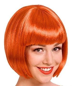 Folat Peluca Page Cabeza Naranja fuchsrot Carnaval Halloween fastnacht
