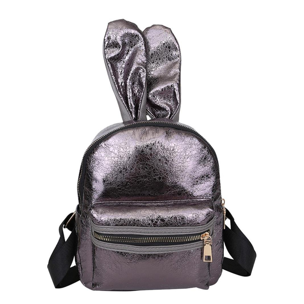 Aobiny Backpack Leisure Soft Leather Travel Backpack Shoulder Bag For Students (Coffee)
