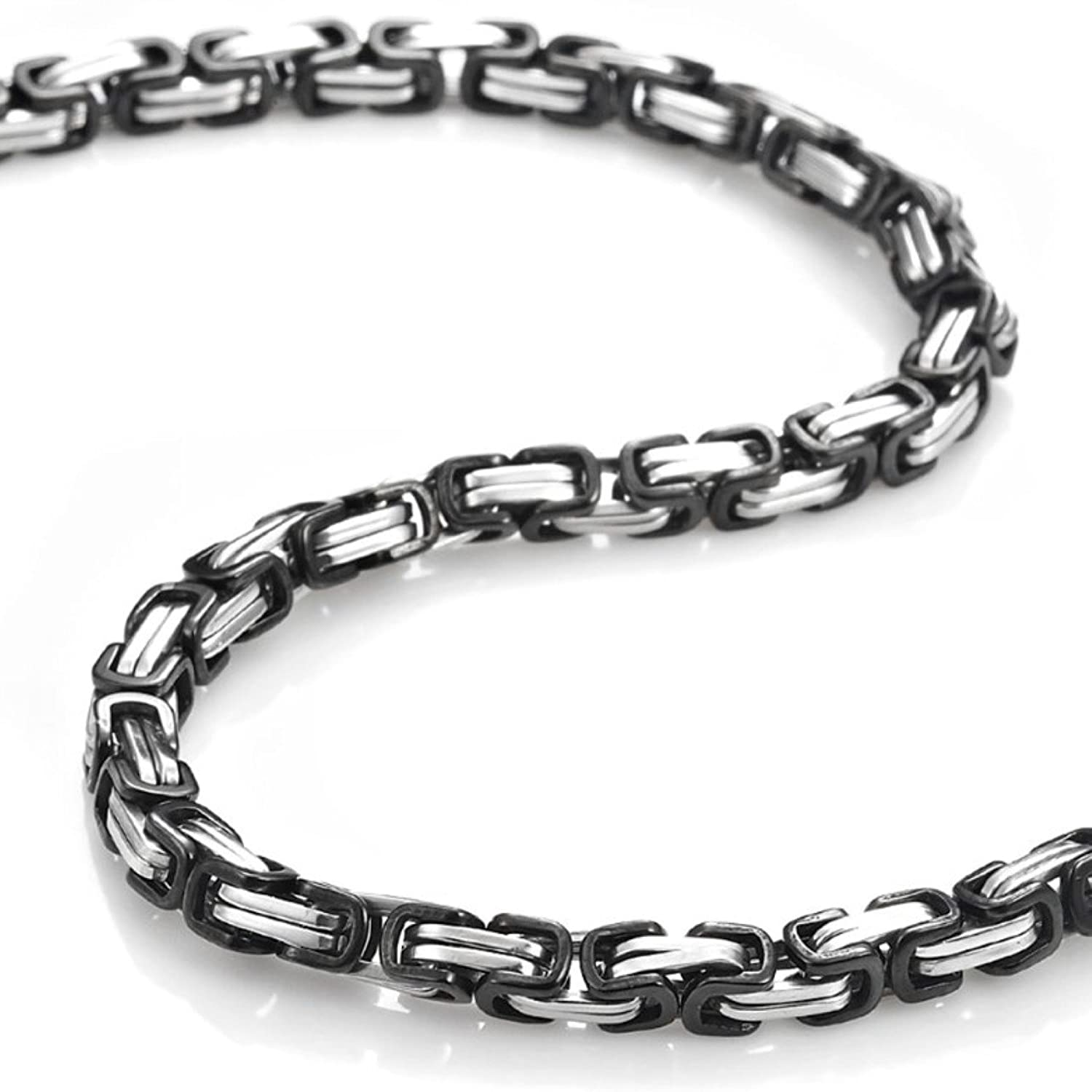 inch designs silver snake chain smooth steel polished stainless round loralyn product necklace men for mens
