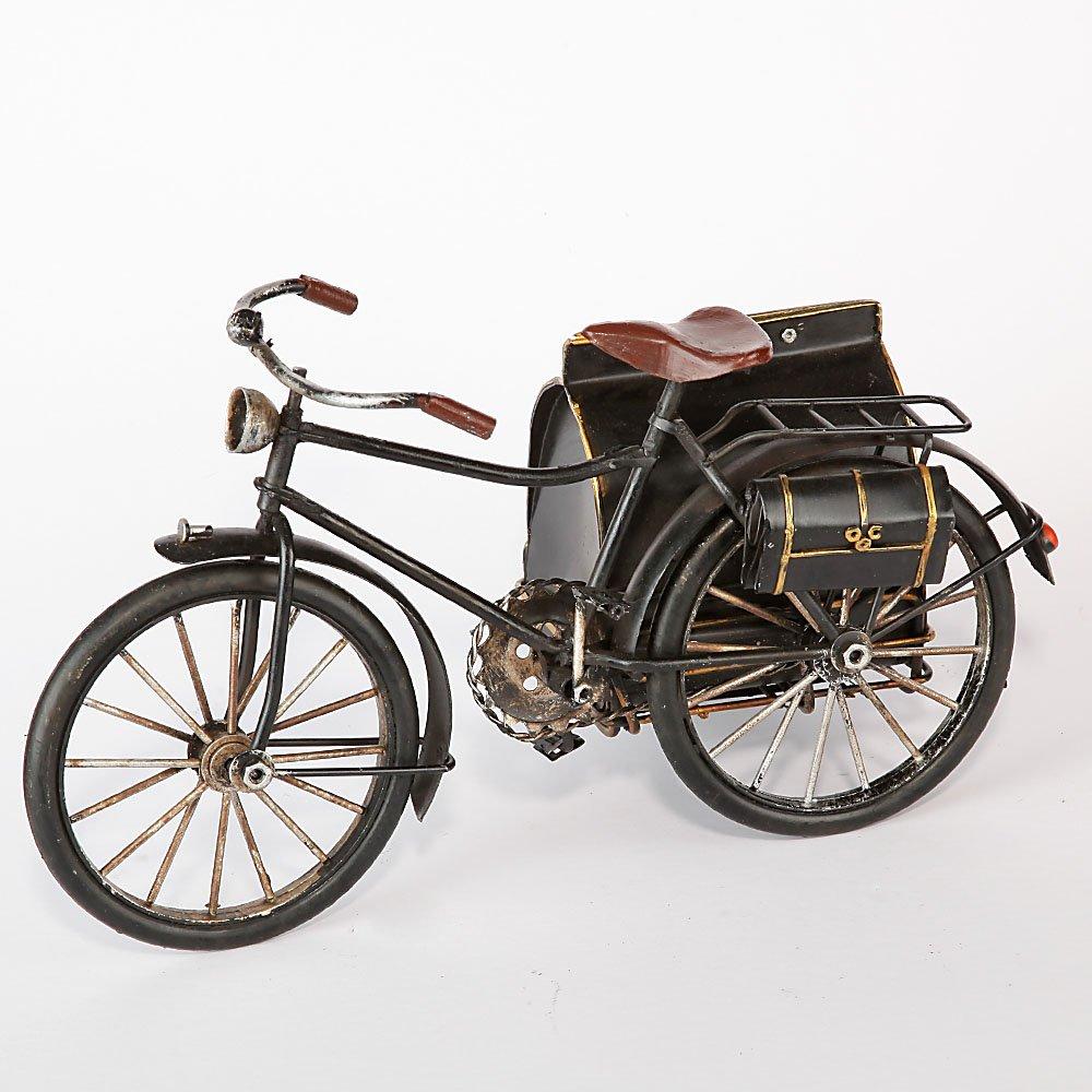 SG Chapa de Bicicleta con Sidecar Plegable Negro nostálgica Pieza de coleccionista Inglés Post Bicicleta tamaño Aprox. 29 x 13 x 17 cm: Amazon.es: Hogar