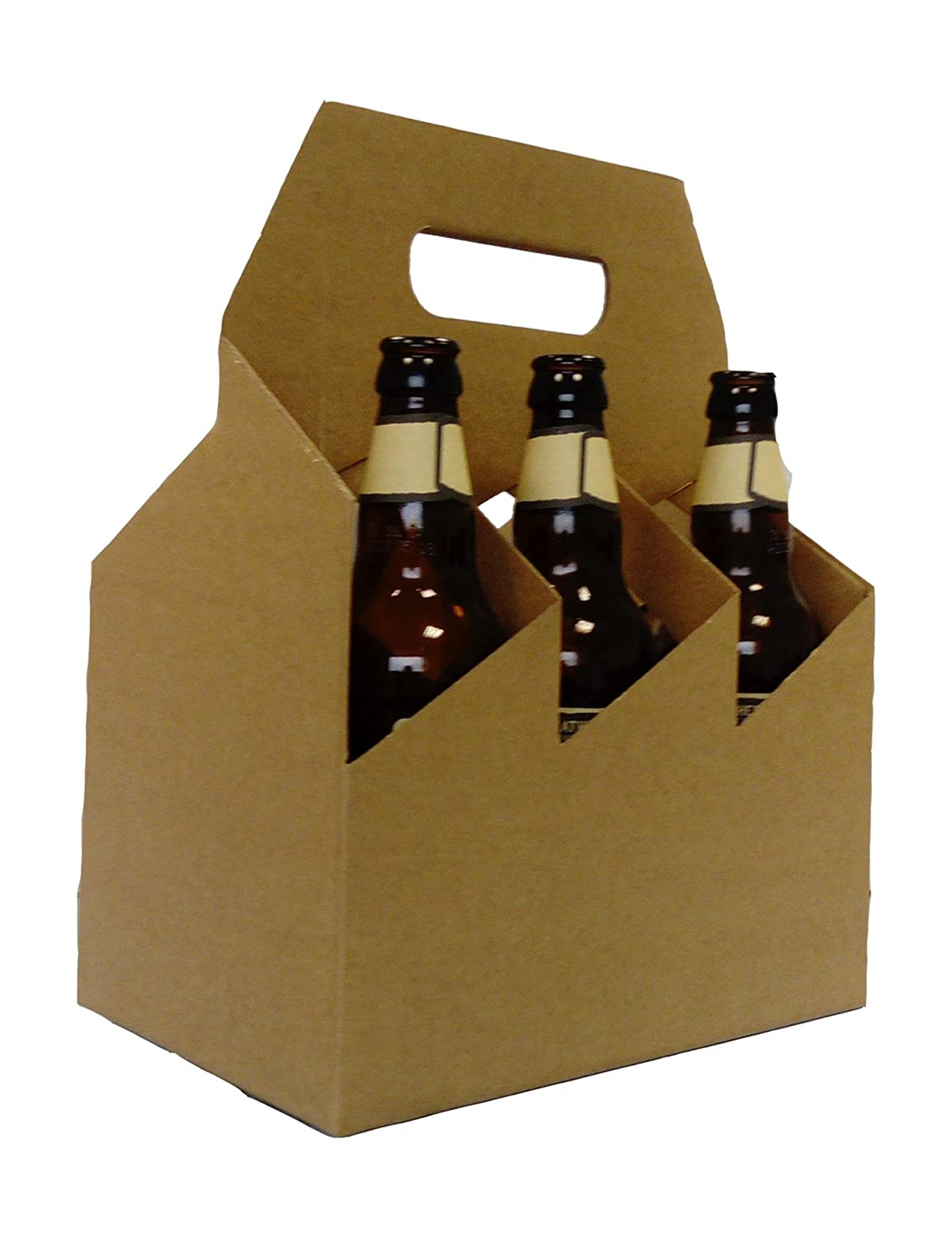 50 x ALE BOTTLE CARRIER (BROWN) Boxes2Go