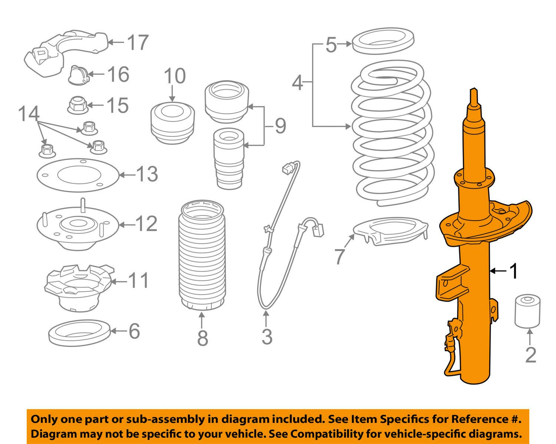 genuine land rover rear shock absorber range rover evoque lh new lr079420,  struts - amazon canada