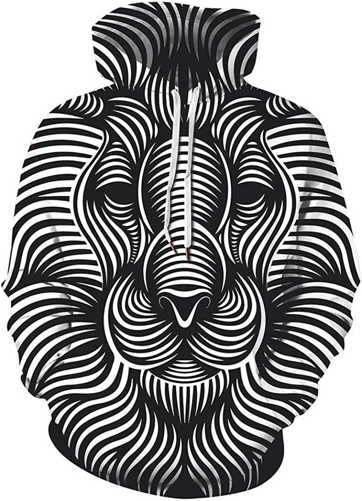 Siviki Mens Scary Halloween Hoodies Sweatershirt 3D Printing Long Sleeve Caps Couple