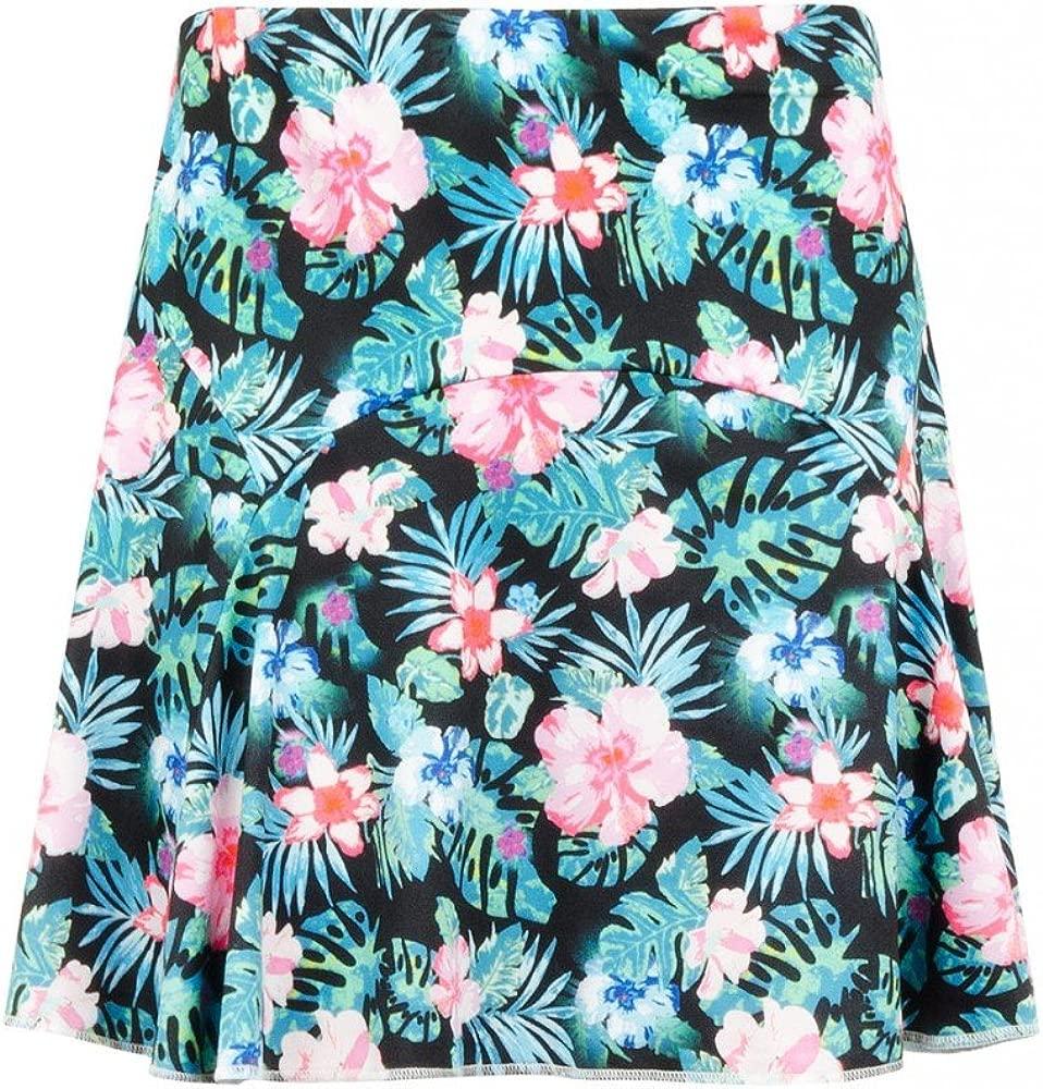 Para mujer diseño de jardín con flores Tropical para faldas traje ...