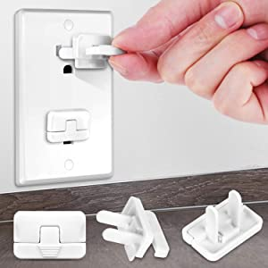 Baby Proofing Outlet Covers with Hidden Pull Handle (40 Pack) Keep Your Kids and Pets Away from Power Hazard Difficult for Children to Remove Safety Durable ABS Plastic Outlet Plug Protector Cap