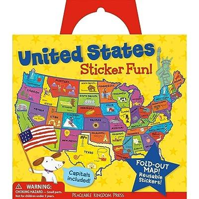 Peaceable Kingdom Press Award Winning Sticker Fun! United States Reusable Sticker Tote: Peaceable Kingdom Press: Toys & Games [5Bkhe0805903]