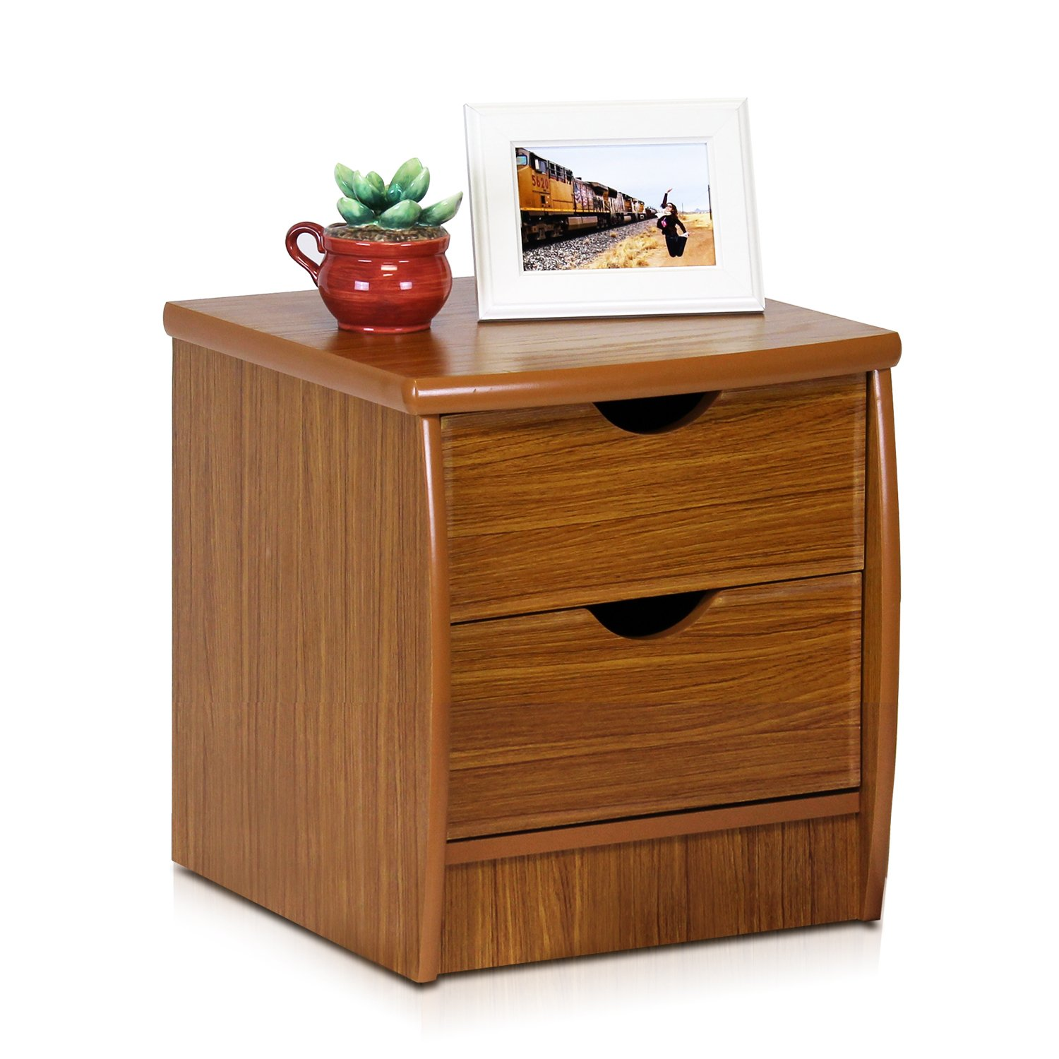 Furinno FNAK-11173EX Simple Design Bedside 2-Drawer Chest, Cherry by Furinno (Image #3)