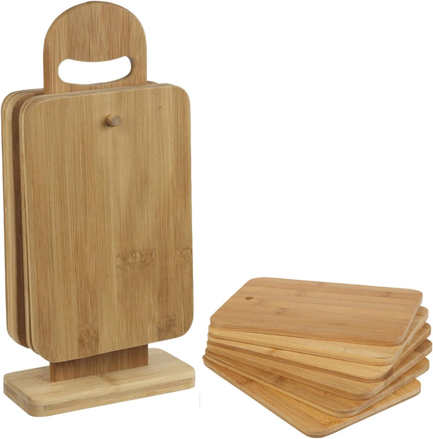 Planches /à D/écouper 6 Pi/èces Support Planchettes /à Petit-D/éjeuner en Bambou