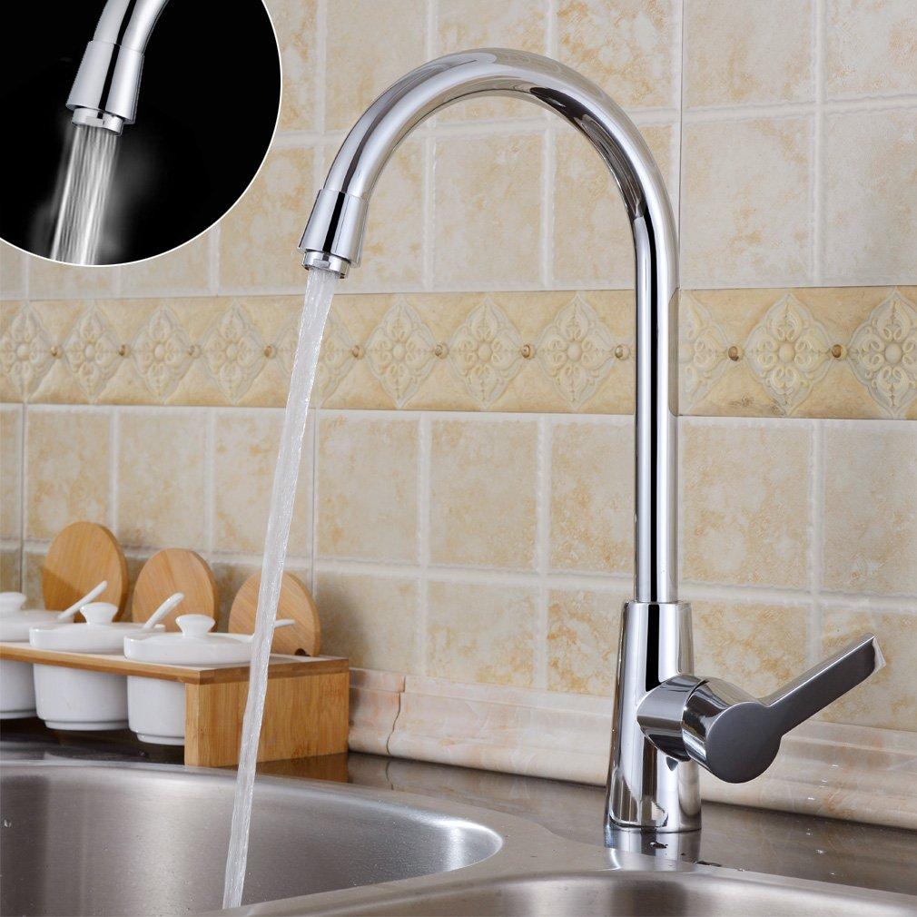 Auralum® 360°Rubinetto di lavabo con canna alta flessibile ...