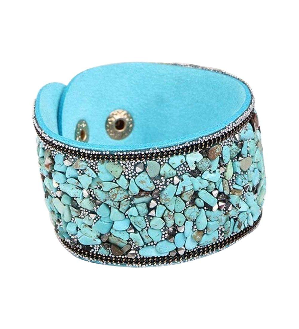Novadab Aqua Dream Natural Pebble Snap Cuff Bracelet For Women