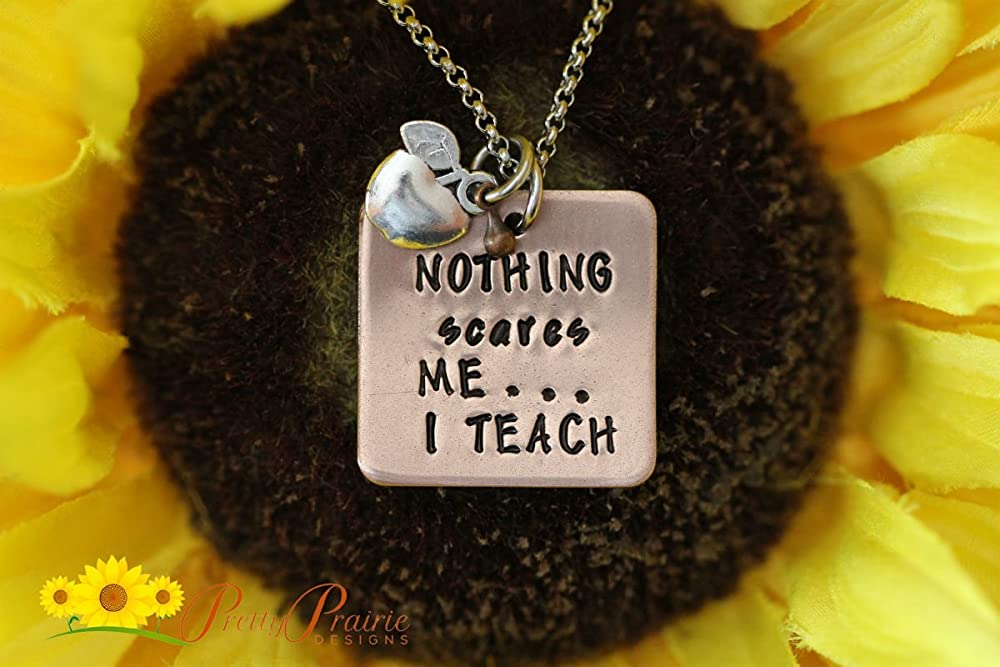 Teacher Gift Educator Jewelry Personalized  Custom Teacher Appreciation Necklace  It Takes A Big Heart To Make A Difference Pendant