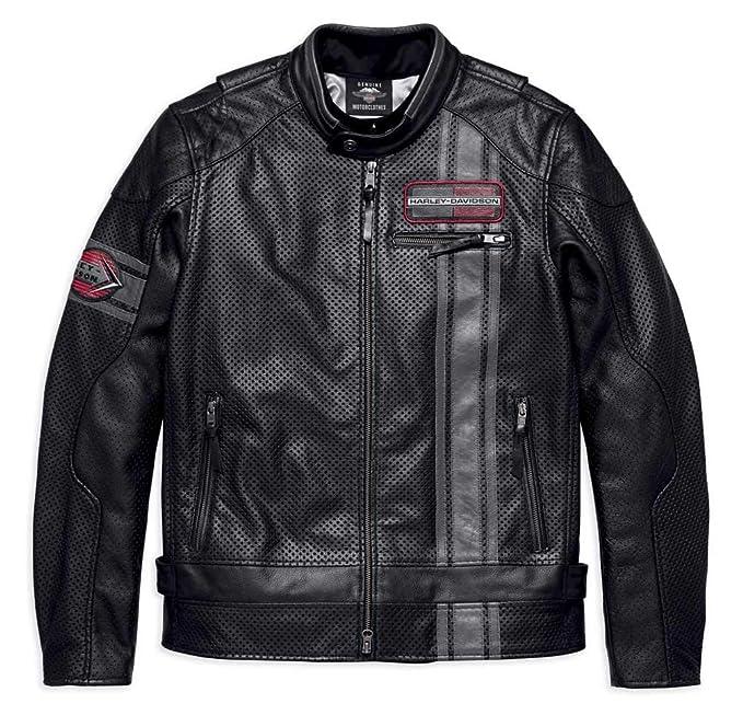 Amazon.com: Harley-Davidson 97009-18VM - Chaqueta de piel ...