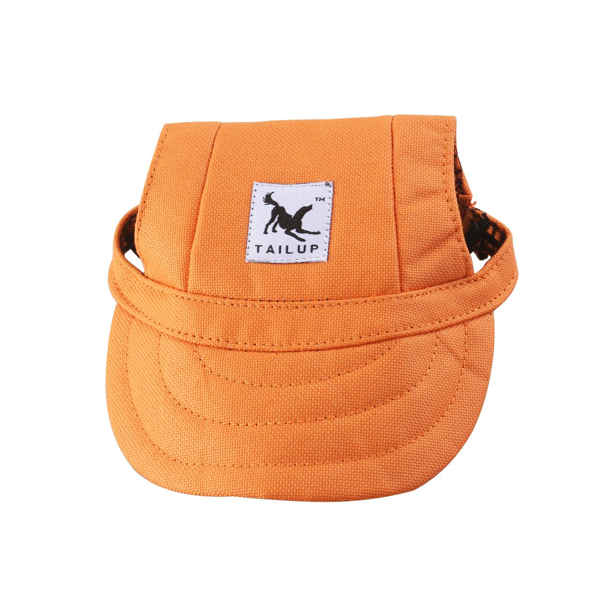 orange S Tinksky Pet Dog Canvas Hat Sports Baseball Cap with Ear Holes for Small Dogs Size S (orange)