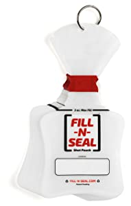 Fill-N-Seal 3oz Heat Sealed Liquid 25 Pouch Kit, Heat Sealer w/Batteries, TSA Carry-on Approved, 100% Flexible, BPA Free, No Funnel Needed