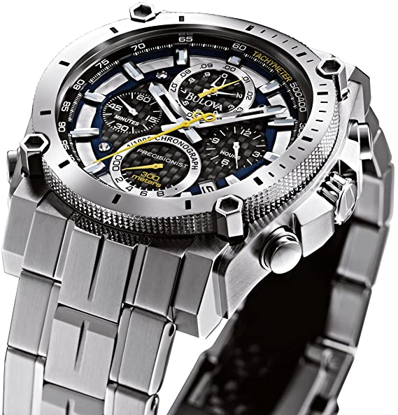 48547ec64 Buy Bulova Precisionist Analog Black Dial Men's Watch - 96B175 Online at  Low Prices in India - Amazon.in