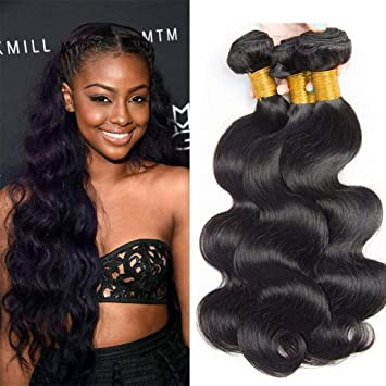 Amazon.com   SINA Virgin Brazilian Hair Body Wave 3 Bundles 18 20 22 inches  Human Hair Can Use with Closure 10A Full Weaves Weft Extensions for Black  Women ... 8ad56be2a6