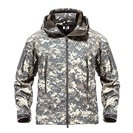 c80ef13ddf53a FieldShuFu Army Camouflage Men Jacket Coat Military Tactical Jacket  Waterproof Soft Shell Windbreaker Hunt Clothes ACU