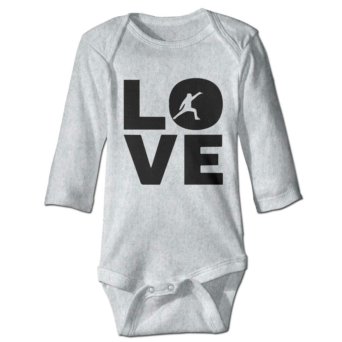 Newborn Infant Baby Girls Boys Romper Bodysuit Infant Love Your Sport Long Sleeve Funny Romper Bodysuit