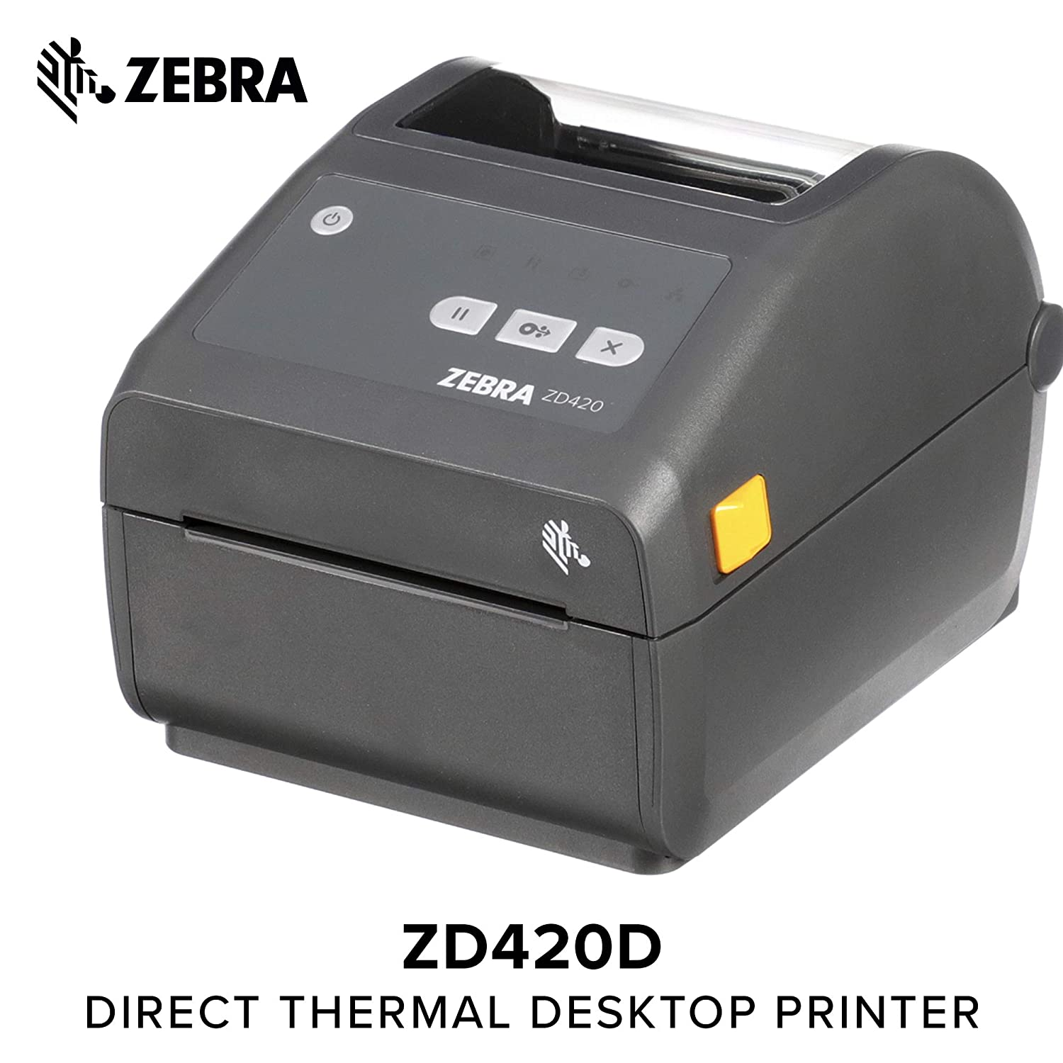 Zebra - ZD420d Direct Thermal Desktop Printer for Labels and Barcodes -  Print Width 4 in - 203 dpi - Interface: WiFi, Bluetooth, USB -