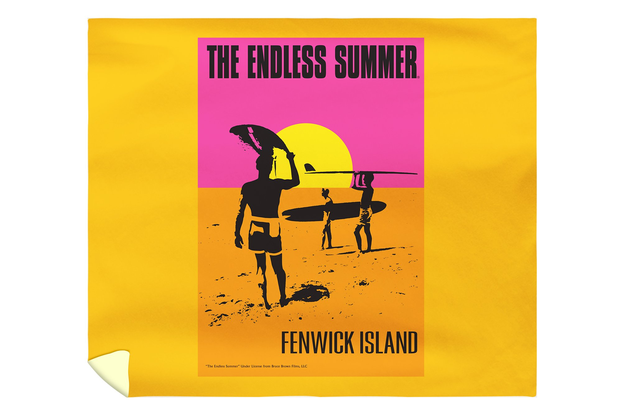 Fenwick Island, Delaware - The Endless Summer - Original Movie Poster (88x104 King Microfiber Duvet Cover)