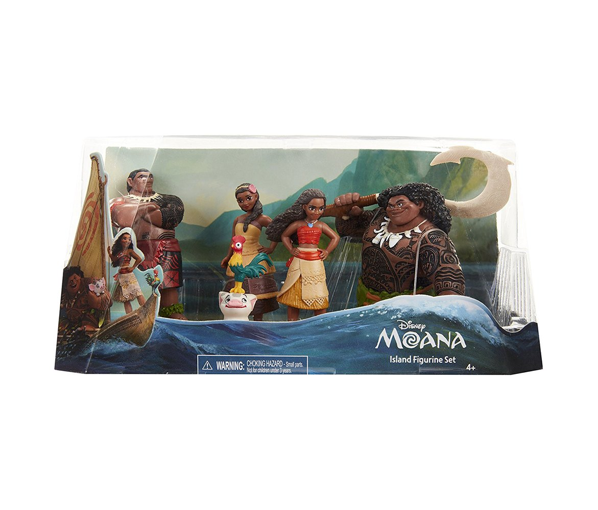 Mozlly Multipack - Disney Moana Movie Island Figures - Includes Moana, Hei Hei, Maui, Tui and Sina - 3.5 inch - Cake Toppers - Novelty Character Toys (5pc Set) (Pack of 6) - Item #S176006_X6