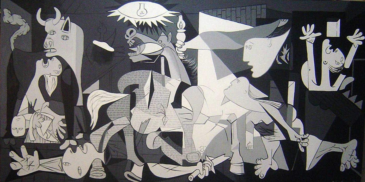 Guernica Pintado a Mano Cuadro (180 x90)