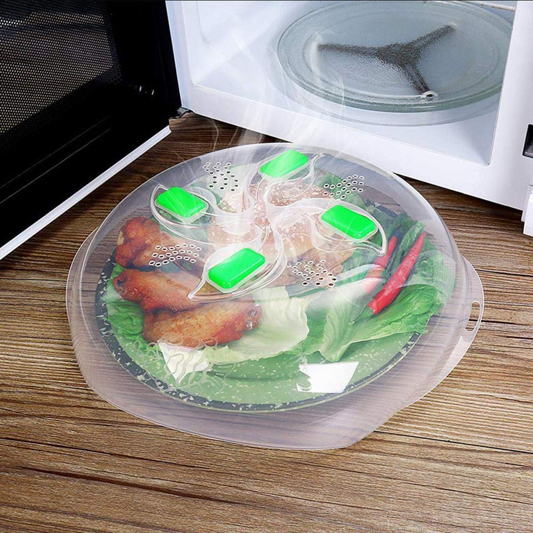 Lome123 Microwave splash cover Hot Food Splatter Guard Microwave Oven Anti-Sputtering Cover with Steam Vents
